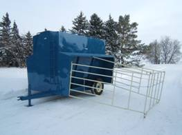 "250 bu. Creep-Feeder on Wheels shown with ""Magic Panel"""